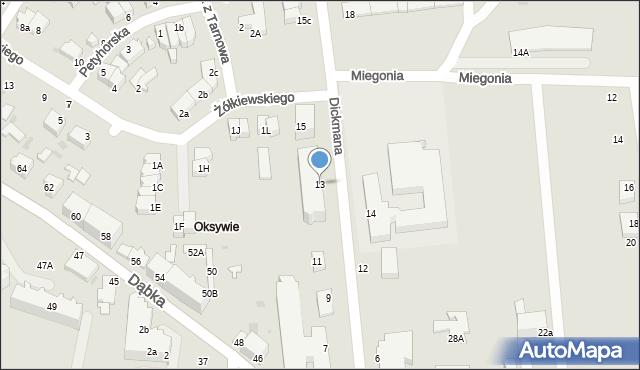 Gdynia, Dickmana Arenda, 13, mapa Gdyni