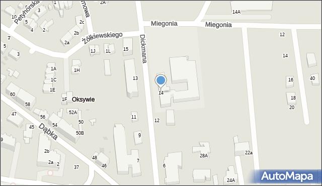 Gdynia, Dickmana Arenda, 14, mapa Gdyni