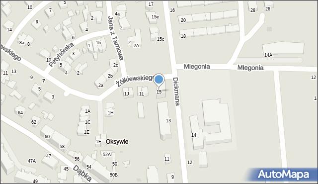 Gdynia, Dickmana Arenda, 15, mapa Gdyni