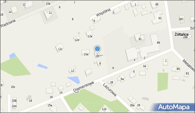 Żółtańce-Kolonia, Diamentowa, 10, mapa Żółtańce-Kolonia