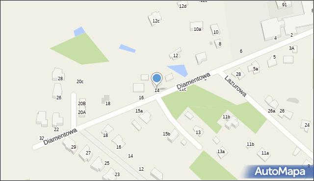Żółtańce-Kolonia, Diamentowa, 14, mapa Żółtańce-Kolonia