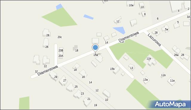 Żółtańce-Kolonia, Diamentowa, 15a, mapa Żółtańce-Kolonia