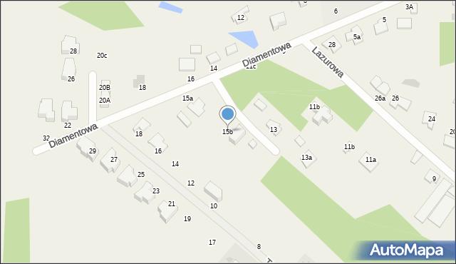 Żółtańce-Kolonia, Diamentowa, 15b, mapa Żółtańce-Kolonia