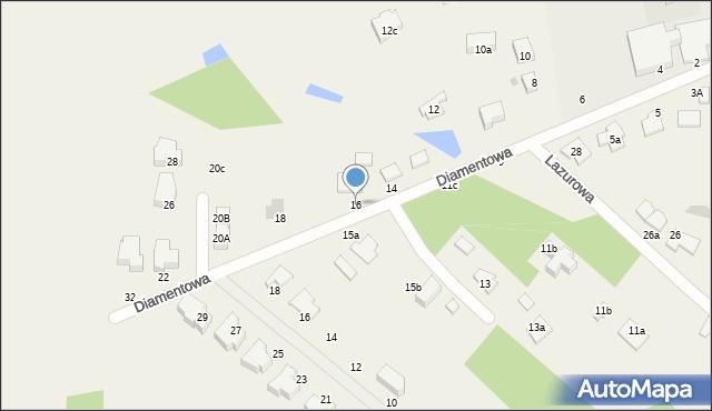 Żółtańce-Kolonia, Diamentowa, 16, mapa Żółtańce-Kolonia