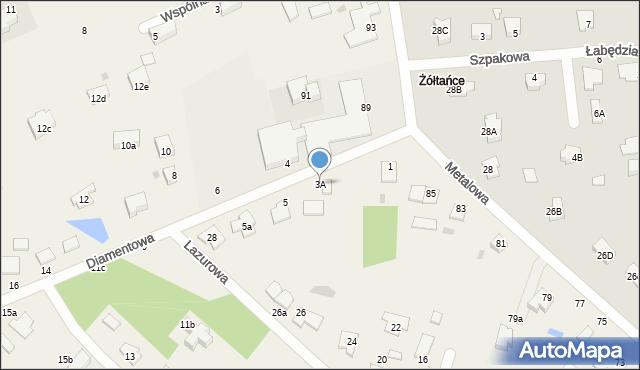 Żółtańce-Kolonia, Diamentowa, 3A, mapa Żółtańce-Kolonia