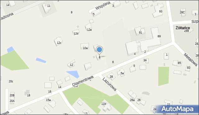 Żółtańce-Kolonia, Diamentowa, 8, mapa Żółtańce-Kolonia
