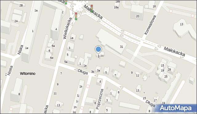 Gdynia, Długa, 3, mapa Gdyni