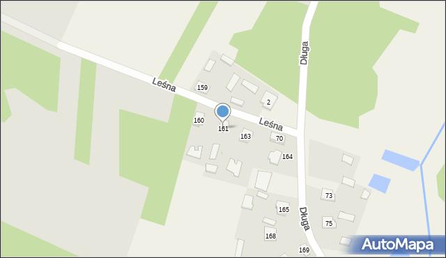 Lisie Jamy, Długa, 161, mapa Lisie Jamy