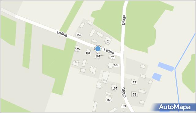 Lisie Jamy, Długa, 163, mapa Lisie Jamy