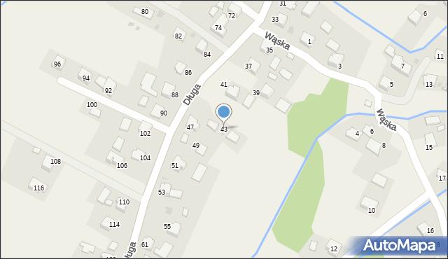 Przeciszów, Długa, 43, mapa Przeciszów