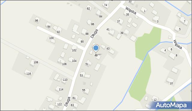 Przeciszów, Długa, 49, mapa Przeciszów