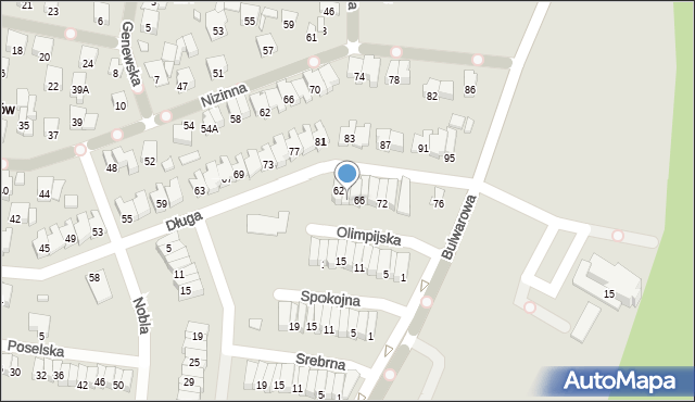 Radom, Długa, 64, mapa Radomia