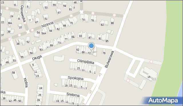 Radom, Długa, 74, mapa Radomia