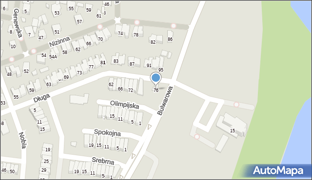 Radom, Długa, 76, mapa Radomia