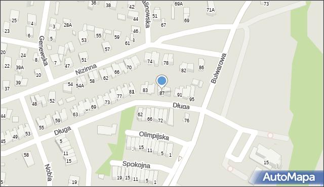 Radom, Długa, 87, mapa Radomia