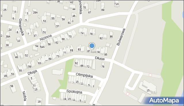 Radom, Długa, 89, mapa Radomia