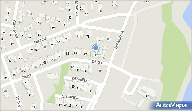 Radom, Długa, 91, mapa Radomia