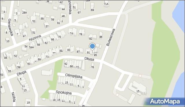 Radom, Długa, 93, mapa Radomia