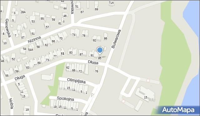 Radom, Długa, 95, mapa Radomia