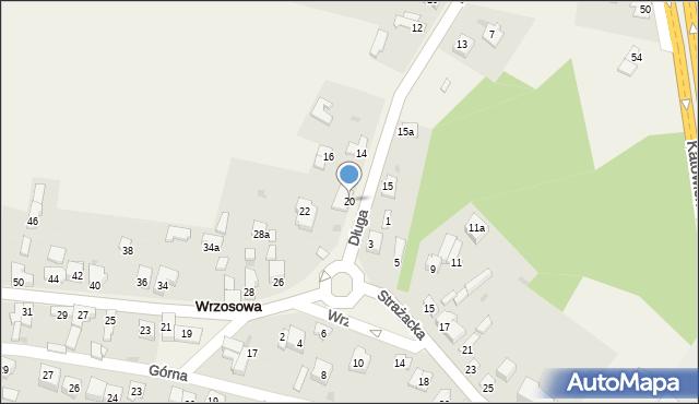 Wrzosowa, Długa, 20, mapa Wrzosowa