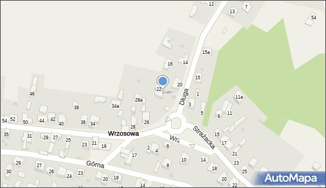 Wrzosowa, Długa, 24, mapa Wrzosowa