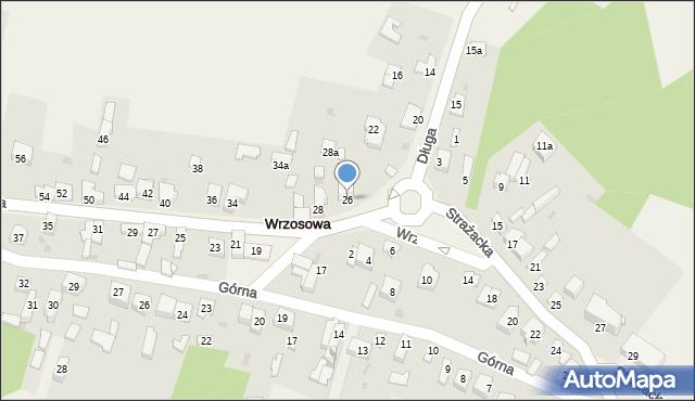 Wrzosowa, Długa, 26, mapa Wrzosowa