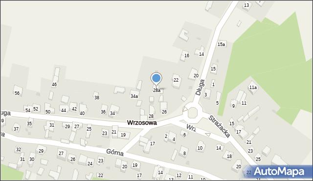 Wrzosowa, Długa, 28a, mapa Wrzosowa