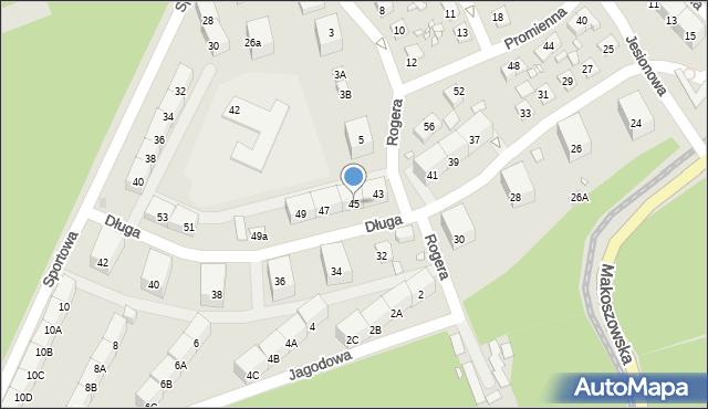 Zabrze, Długa, 45, mapa Zabrza