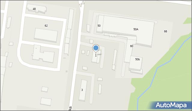 Białystok, Dolistowska, 1, mapa Białegostoku