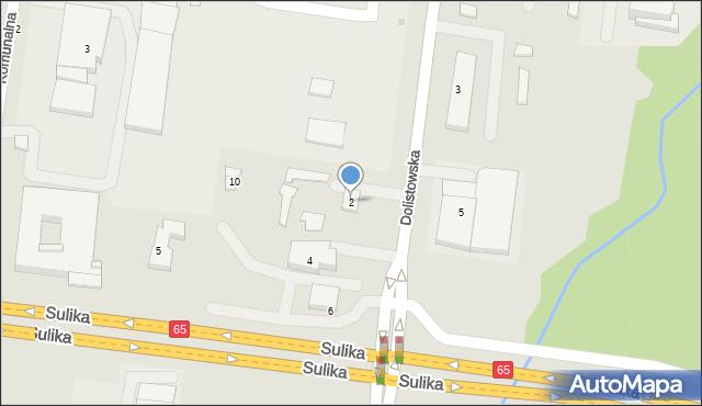 Białystok, Dolistowska, 2, mapa Białegostoku