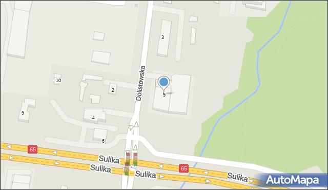 Białystok, Dolistowska, 5, mapa Białegostoku