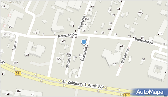 Chełm, Dojazdowa, 4, mapa Chełma