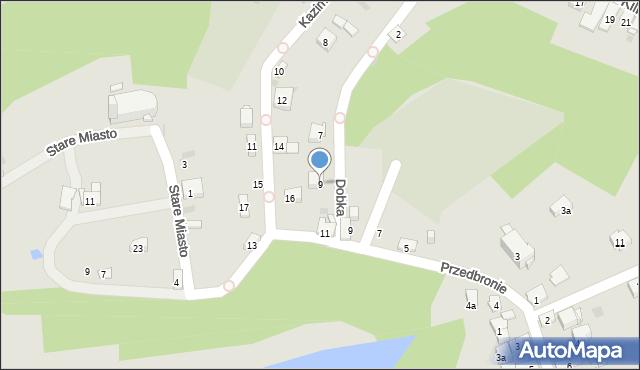 Dobczyce, Dobka, kasztelana, 9, mapa Dobczyce