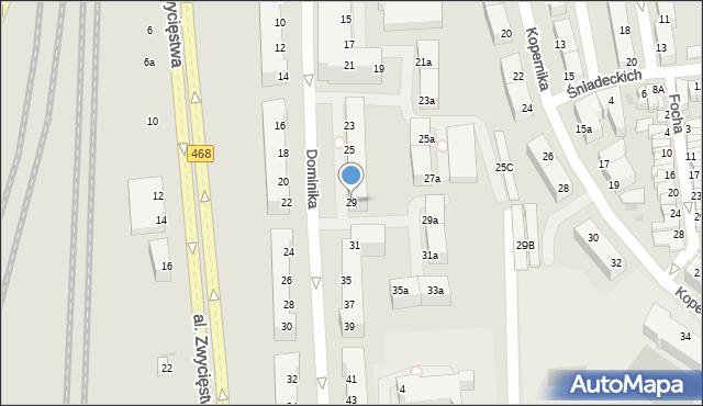 Gdynia, Dominika, bp., 29, mapa Gdyni