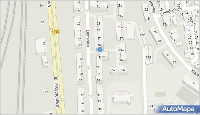 Gdynia, Dominika, bp., 31, mapa Gdyni