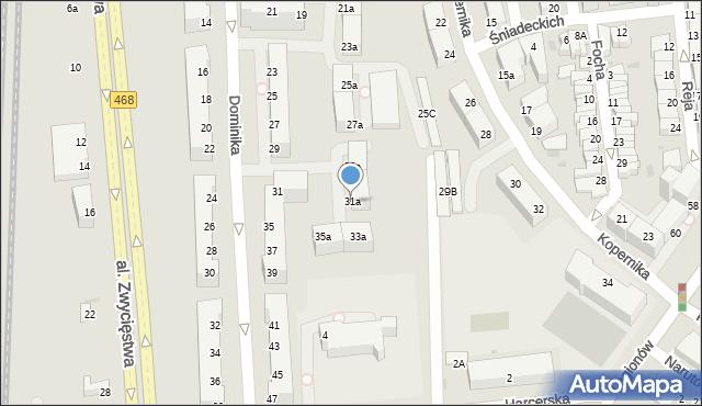 Gdynia, Dominika, bp., 31a, mapa Gdyni