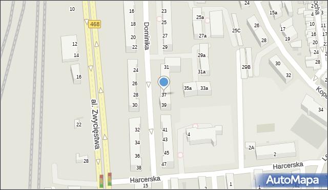 Gdynia, Dominika, bp., 37, mapa Gdyni