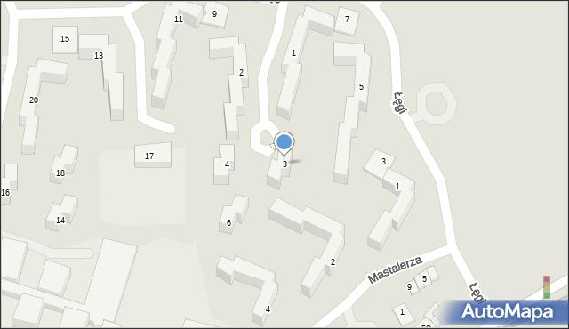 Grudziądz, Dobrzańskiego-Hubala Henryka, mjr., 3, mapa Grudziądza