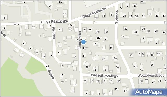 Grudziądz, Dobrzyńska, 3, mapa Grudziądza