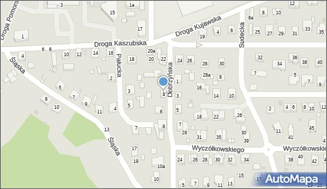 Grudziądz, Dobrzyńska, 4, mapa Grudziądza