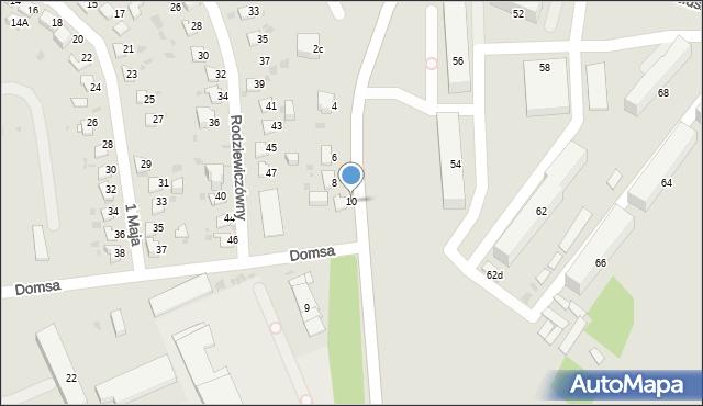 Jaworzno, Domsa Roberta, 10, mapa Jaworzno