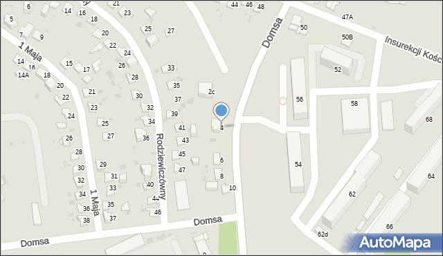 Jaworzno, Domsa Roberta, 4, mapa Jaworzno