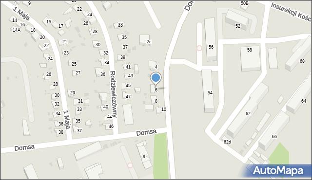 Jaworzno, Domsa Roberta, 6, mapa Jaworzno