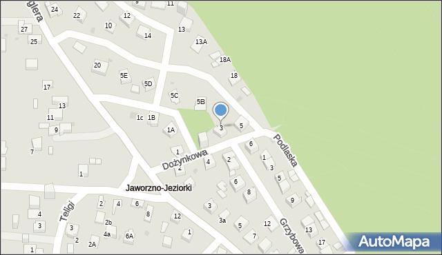 Jaworzno, Dożynkowa, 3, mapa Jaworzno