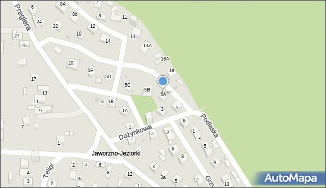 Jaworzno, Dożynkowa, 5A, mapa Jaworzno