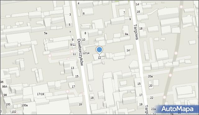 Łódź, Dowborczyków, 12, mapa Łodzi