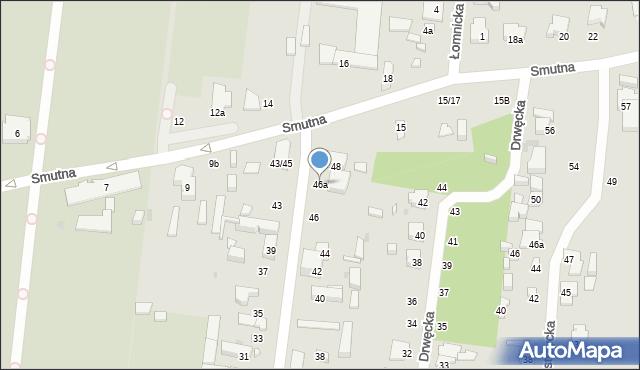 Łódź, Doły, 46a, mapa Łodzi