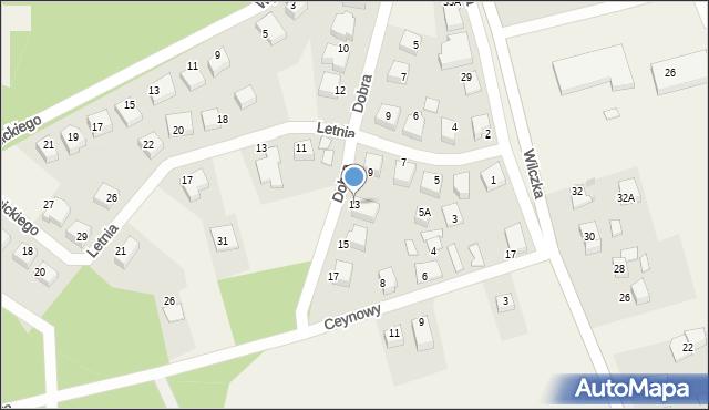 Luzino, Dobra, 13, mapa Luzino
