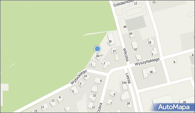 Luzino, Dobra, 2A, mapa Luzino