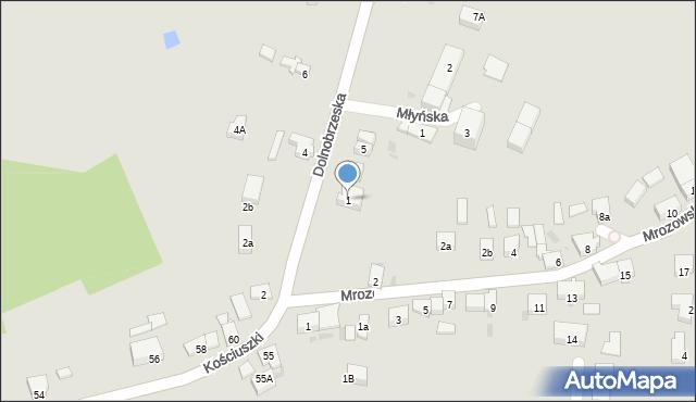 Miękinia, Dolnobrzeska, 1, mapa Miękinia